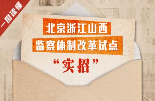 """一图读懂:北京浙江山西监察体制改革试点""""实招"""""""